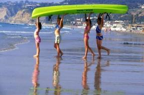 La Jolla Beach Kayaks Family Fun