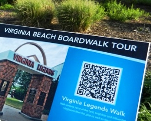 Virginia beach Legends Walk App Enabled.