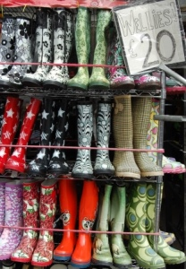 London Shopping Wellies at Camden Market