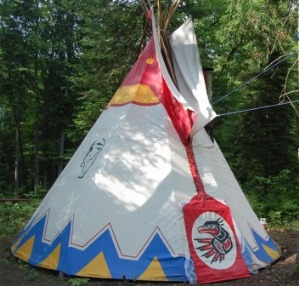 Teepee at Les Toits du Monde in Quebec