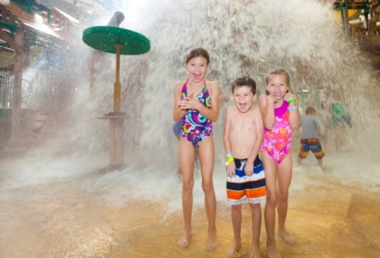Tipping Bucket at Great Wolf Lodge in Texas