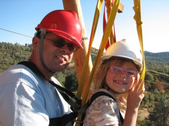 Moaning Cave Adventue Park Tandem Zipline Family Fun California