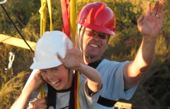 Moaning Cave Adventure Park Tandem Zipline Experience for Families