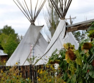 Summer Teepees at Snow Mansion near Taos, New Mexico.