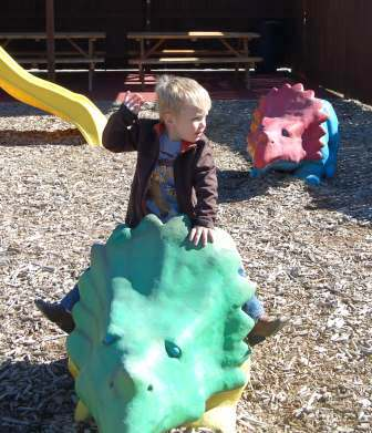Playground area at Dinosaur World in Glen Rose, Texas