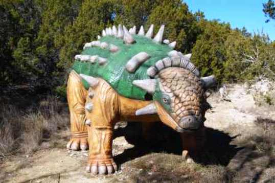 Rosie the Dinosaur at Home in Dinosaur World, Glenn Rose Texas
