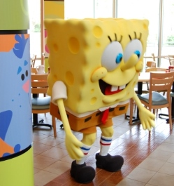 SongeBob Square pants at Breakfast in Florida