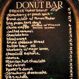 Donut Bar Delicious Saturday Menu Choices