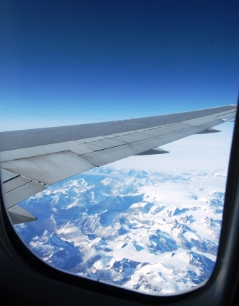 Travel Safely Window View of Greenland