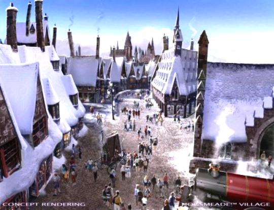 Hogsmeade at Universal Studios Hollywood.