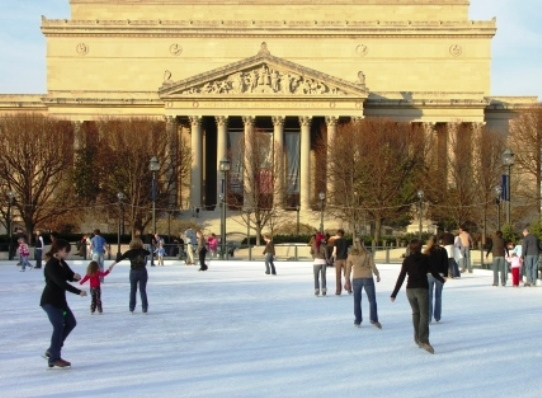 Washington DC National gallery of Art Ice Skating