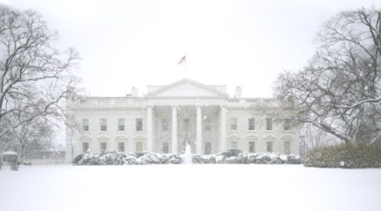 Washington DC Snowy White House