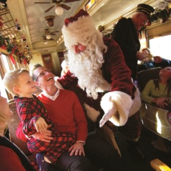 Santa and the Grapevine North Pole Express