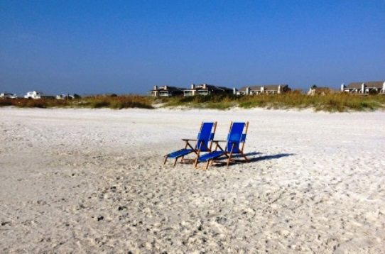 Texas Gulf Coast Beach Chairs Waiting
