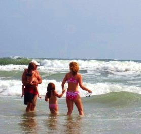 Family Time Sharing California Beach Waves