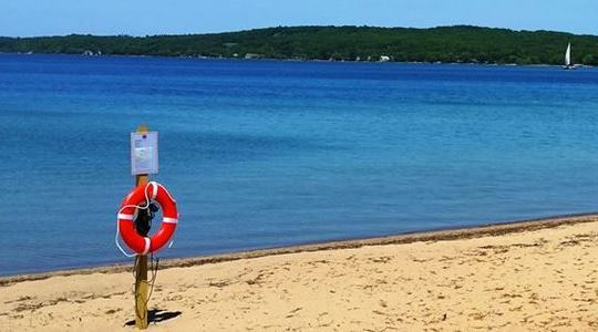 Clinich Park Beach in Traverse City Michigan