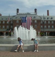 Alexandria Virginia Town Square Fountain