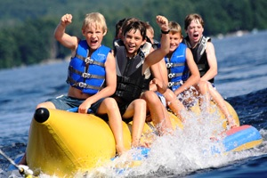 Kingsley Pines Family Vacation Camp Banana Boat Ride
