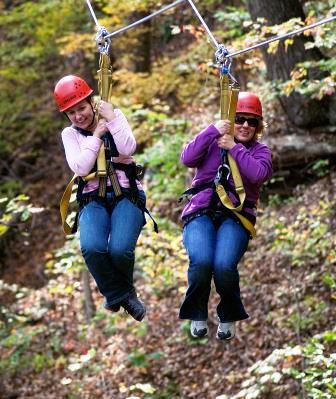ACE Adventure Resort in WV Ziplining Family Fun.