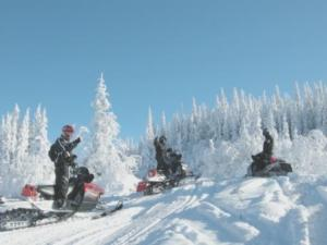 Les Monts Valin Snowmobiling in Quebec