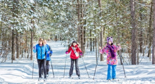 Traverse City Michigan Cross Country Skiing Family