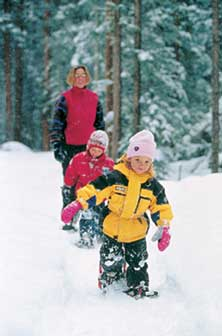 Snowshoeing with kids in Idaho