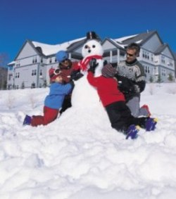 Snowman at Smuggler's Notch in Vermont