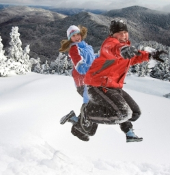 Snow Jumping Family Fun