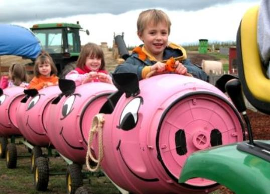 French Prairie Gardens Pig Train