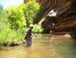 MOab Utah swimming hole