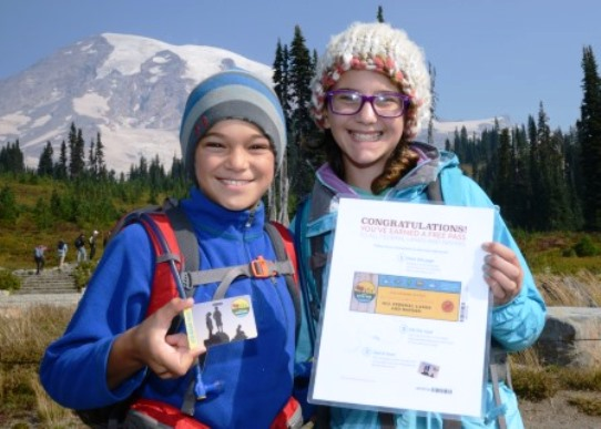 Mount Rainier national park Free Access Card Fourth Graders