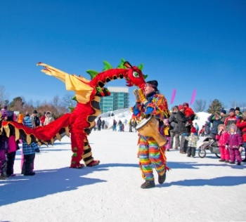 Winterlude Snowflake Kingdom Dragon Play in Ottawa