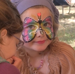 Central Coast Renaissance Faire Face Painting in San Luis Obispo, CA