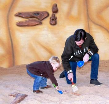 Glen rose Dinosaur World bone hunting.