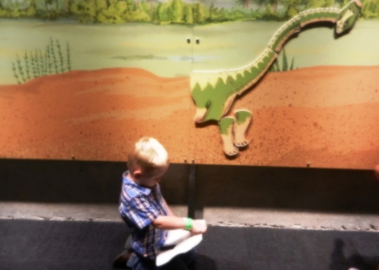 Perot Museum Interactive Dinosaur Puzzle in Dallas