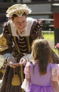 New York renaissance Fair Royalty with Child by  Lars Lunde