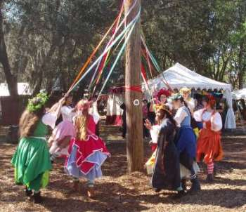 Ren Fest May Pole Dance Family Travel Files