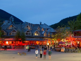 Whistler Bc Village at Night