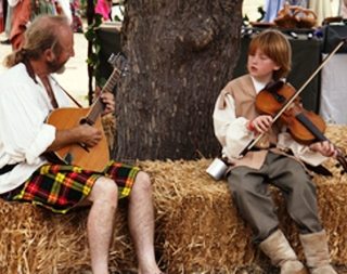 musicians meet at Central Coast Renaissance Festival in San Luis Obispo