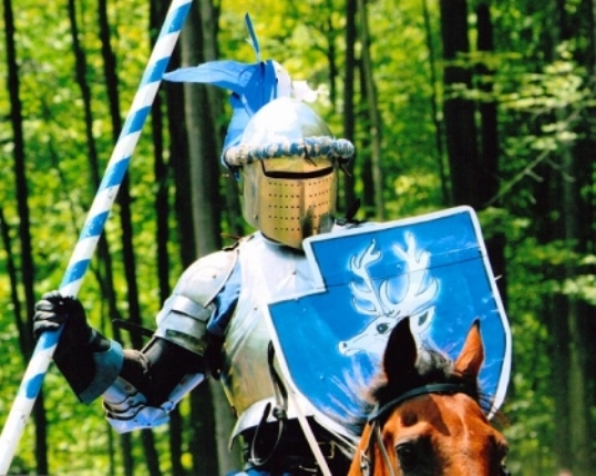 Great lakes Medieval Faire Blue Knight