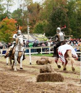 Knights Jousting at Ohio Renaissance Faire in Warren County Ohio