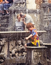 Italy Child at Fountain
