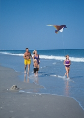 Kite flying on Myrtle Beach South Carolina.